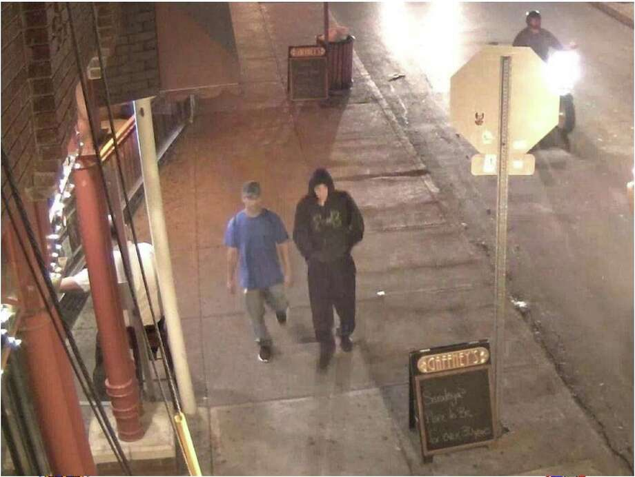 The Saratoga Springs Police Department is seeking the public?s assistance in identifying two males who may have witnessed an altercation in downtown Saratoga Springs. Police said the altercation occurred on Sept. 1 between at least two individuals, which resulted in minor injuries of the individuals involved in the altercation, on Caroline Street, a nightlife area. Police are saying little about the investigation because the case is still pending. Police said the males pictured in the photo provided were seen near the altercation the same night and are looking speak with the males regarding the investigation. If anyone has any information, they are asked to contact Investigator Matt Wilson at 584-1800.