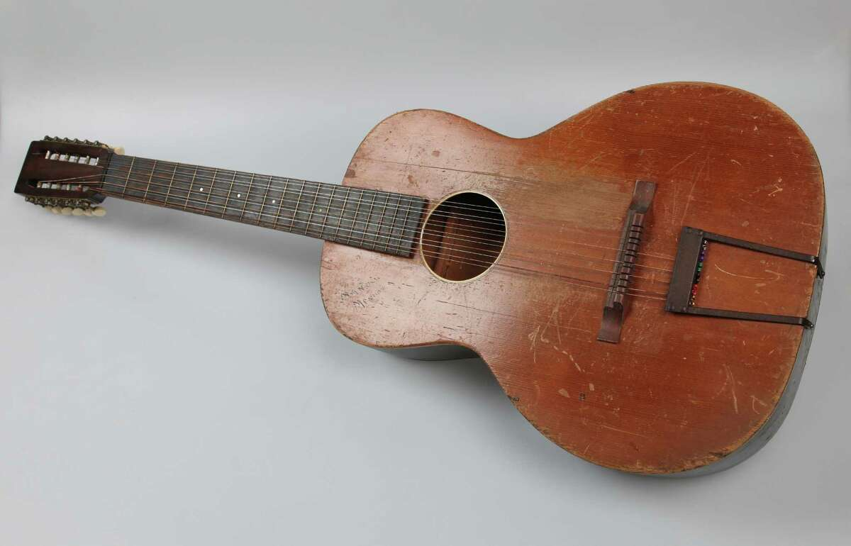 Mireles' 12-string guitar was made by Miguel Acosta at Acosta Music Co. in the late 1920s. The family music store was near the intersection of Camaron and West Houston streets downtown.