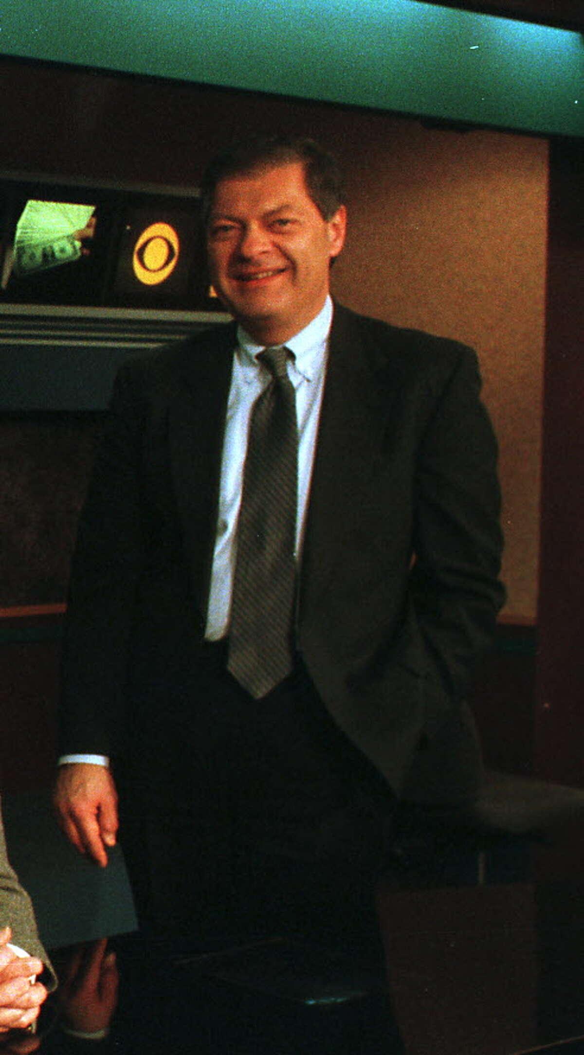Ed O'Brien on the WRGB news set Tuesday, Feb. 27, 2001, in Niskayuna, N.Y. (Jonathan Fickies/Times Union archive)