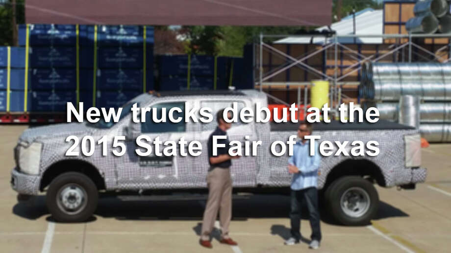 Automakers rush to parade their newest models at The State Fair of Texas, especially trucks, which can get a solid promotional boost with a good showing.Check out the latest trucks from Ford, Toyota, Chevrolet, GMC and Nissan. Photo: San Antonio Express-News