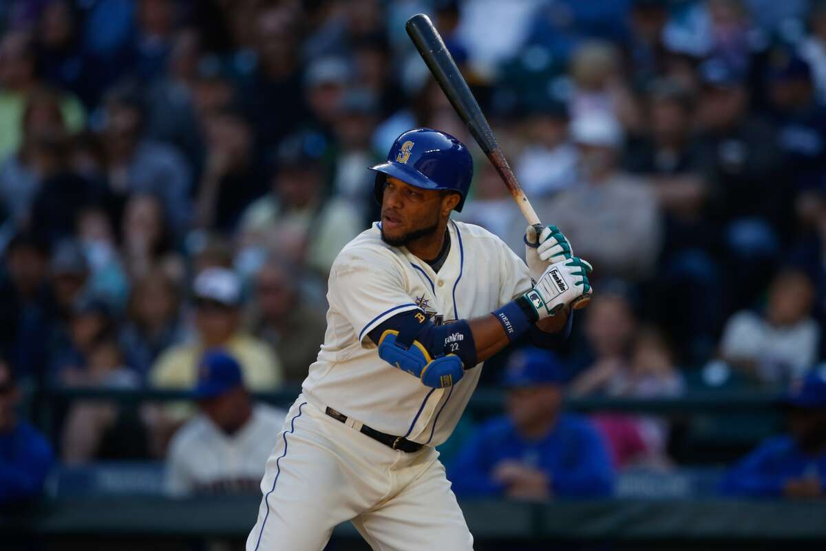 SEATTLE, WA -- Robinson Cano #22 of the Seattle Mariners bats against the Oakland Athletics at Safeco Field on October 4, 2015. (Photo by Otto Greule Jr/Getty Images)