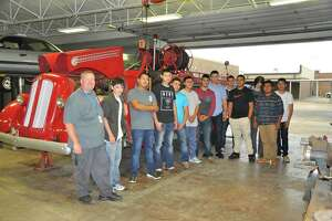 1942 Seagrave fire truck restoration by students brings back a piece of fire department history - Photo