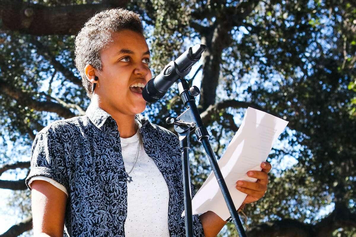 Oakland's Youth Poet Laureate, Tova Ricardo performed her newest poem,
