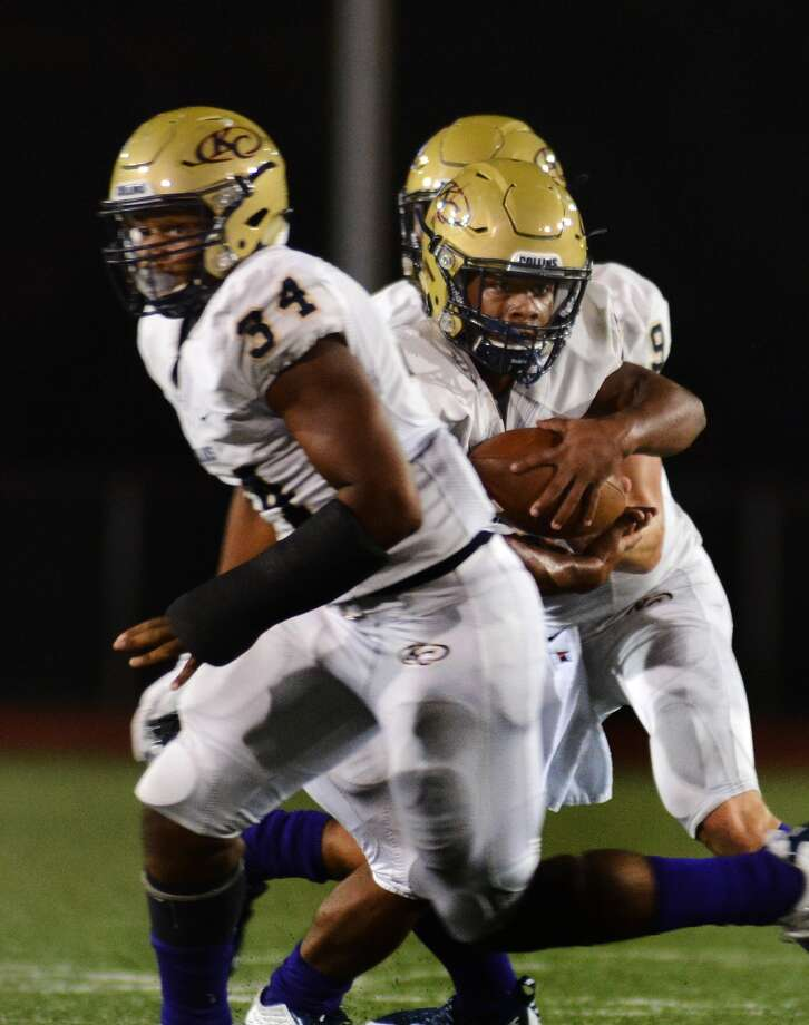 15-6A Despite a three-head monster atop the standings, only Klein Collins (5-0) is locked into a playoff spot. Spring (4-1), which faces the Tigers on Saturday, and Westfield (3-2) are in good shape though. In all, six teams are still mathematically still in. Montgomery, Klein Oak and Klein are all 2-3, but the Bears are - for now - in the best position to claim that fourth spot. If Montgomery beat Klein Oak this week, it will own wins over both the Panthers and Klein. Photo: Jerry Baker, Freelance