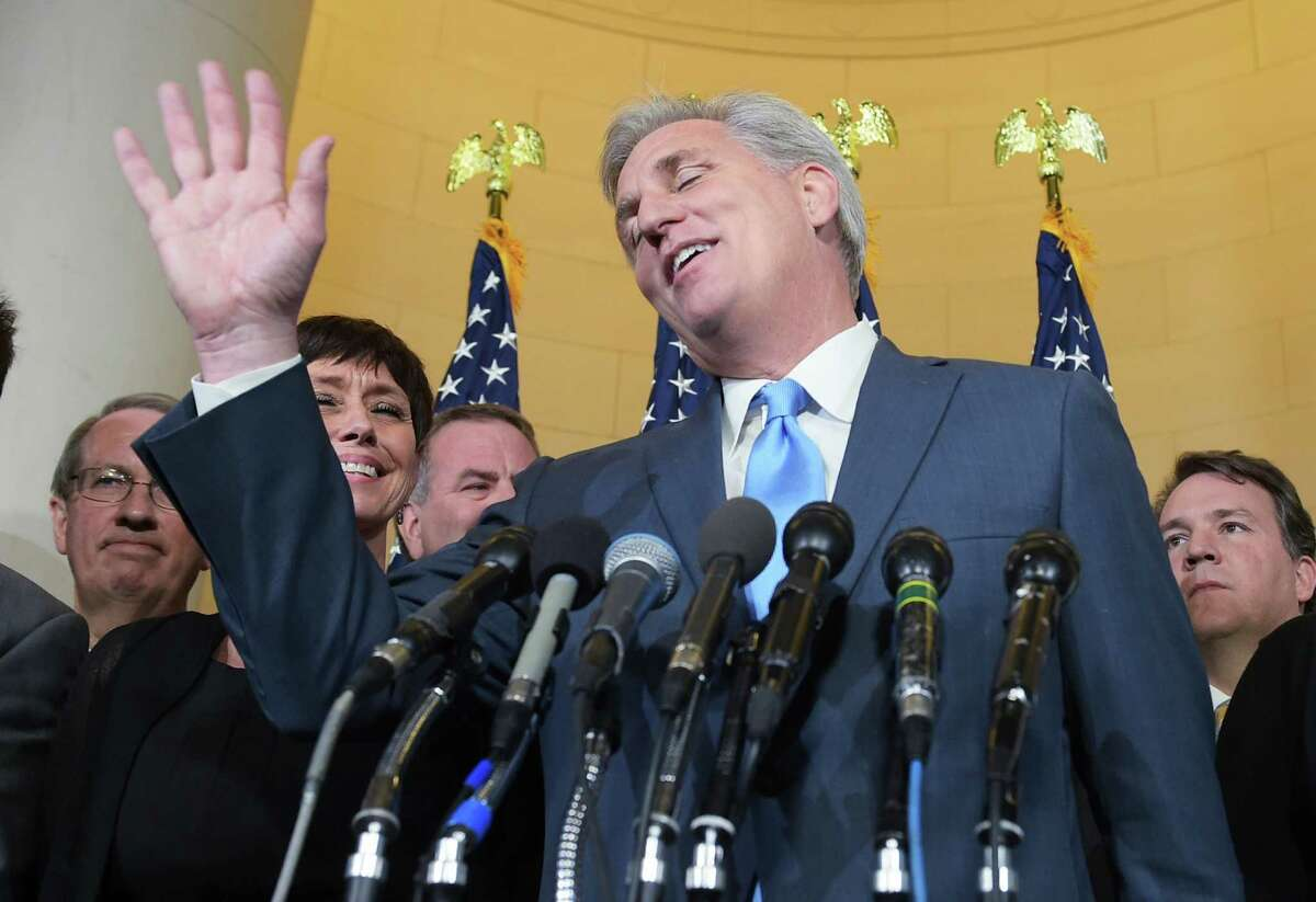 Representative Kevin McCarthy, R-CA, withdrew from the race to replace John Boenher as House speaker. The GOP caucus is now scrambling to bring order to House governance.
