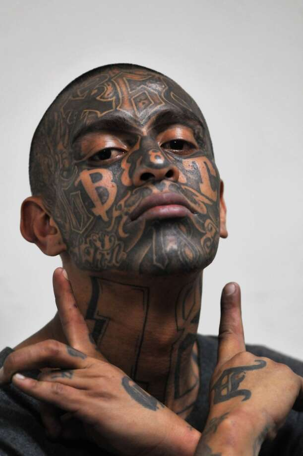 The gallery for ms 13 face tattoos for Gang face tattoos