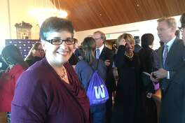 Ana Mari Cauce was named president of the University of Washington on Tuesday Oct. 3, 2015, at a special meeting of the UW's Board of Regents.