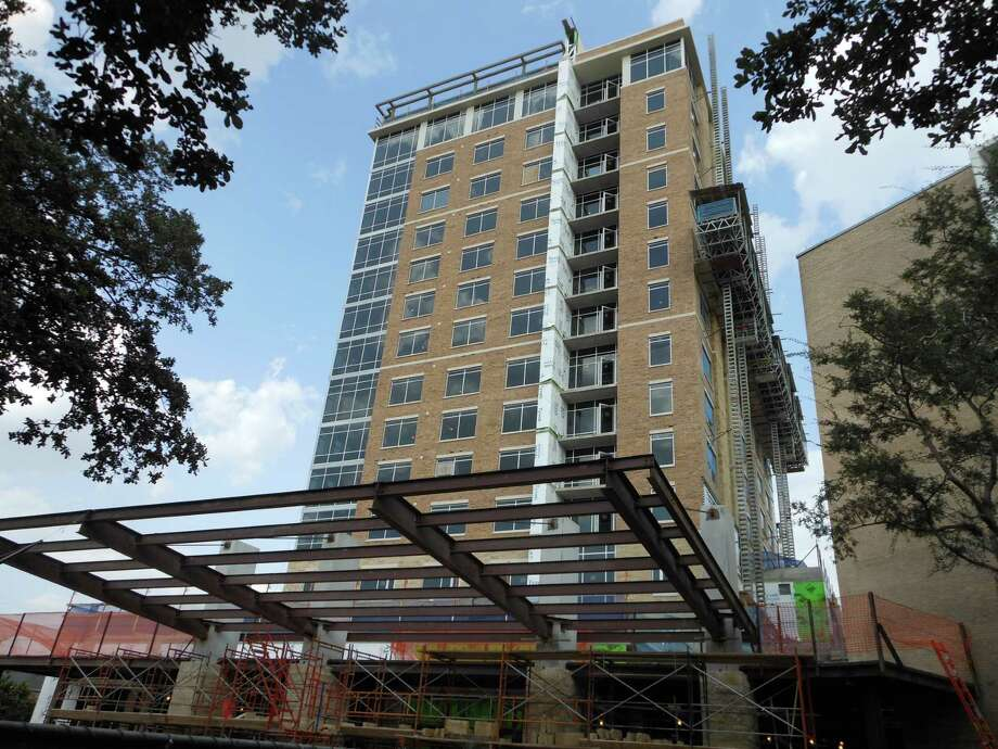 Finishing touches are being placed on the East Tower of Brazos Towers at Bayou Manor.