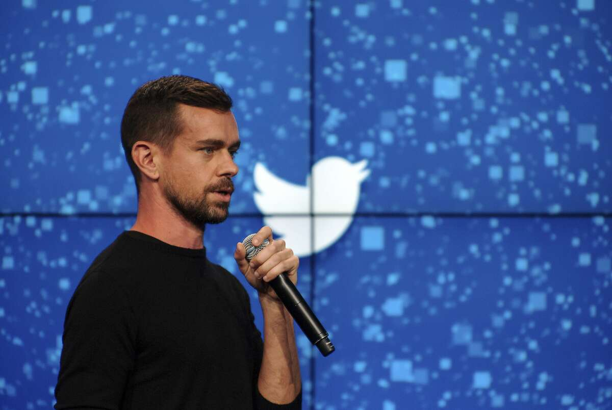 FILE -- Jack Dorsey, Twitter's co-founder and newly appointed chief executive, speaks at a promotional event in New York, Oct. 8, 2015. Twitter announced Tuesday that it was laying off up to 336 employees, or 8 percent of its workforce, to cut costs while it tries to find ways to attract new users. (Bryan Thomas/The New York Times)