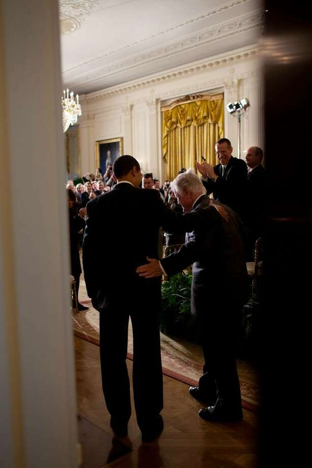 President Barack Obama and Sen. Edward Kennedy, D-Mass., enter the East Room of the White House, to attend a Health Care Summit with members of Congress, March 5, 2009. (Official White House Photo by Pete Souza)  This official White House photograph is being made available only for publication by news organizations and/or for personal use printing by the subject(s) of the photograph. The photograph may not be manipulated in any way and may not be used in commercial or political materials, advertisements, emails, products, promotions that in any way suggests approval or endorsement of the President, the First Family, or the White House. Photo: Pete Souza, White House Photo / This official White House photograph is being made available only for publication by news organizations and/or for personal use printing by the subject(s) of the photograph. The photograph may not be manipulated in any way and may not be used in commercial or political materials, advertisements, emails, products, promotions that in any way suggests approval or endorsement of the President, the First Family, or the White House.