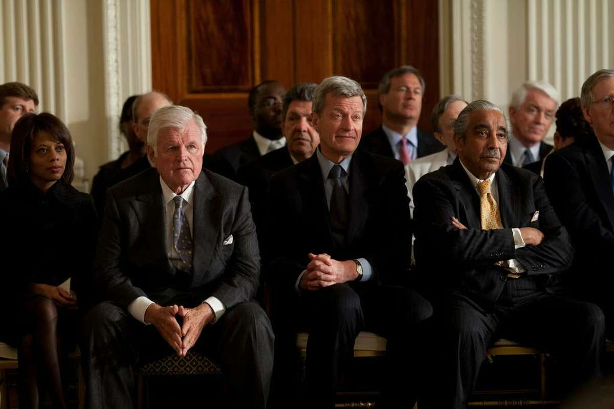 Sen. Edward Kennedy, D-Mass., Sen. Max Baucus, D-Mont., and Rep. Charlie Rangel, D-N.Y., listens to President Obama?•s remarks during the Health Care Summit in the East Room of the White House, March 5, 2009. Seated at left is Melody Barnes, director of the Domestic Policy Council. (Official White House Photo by Pete Souza) This official White House photograph is being made available only for publication by news organizations and/or for personal use printing by the subject(s) of the photograph. The photograph may not be manipulated in any way and may not be used in commercial or political materials, advertisements, emails, products, promotions that in any way suggests approval or endorsement of the President, the First Family, or the White House.
