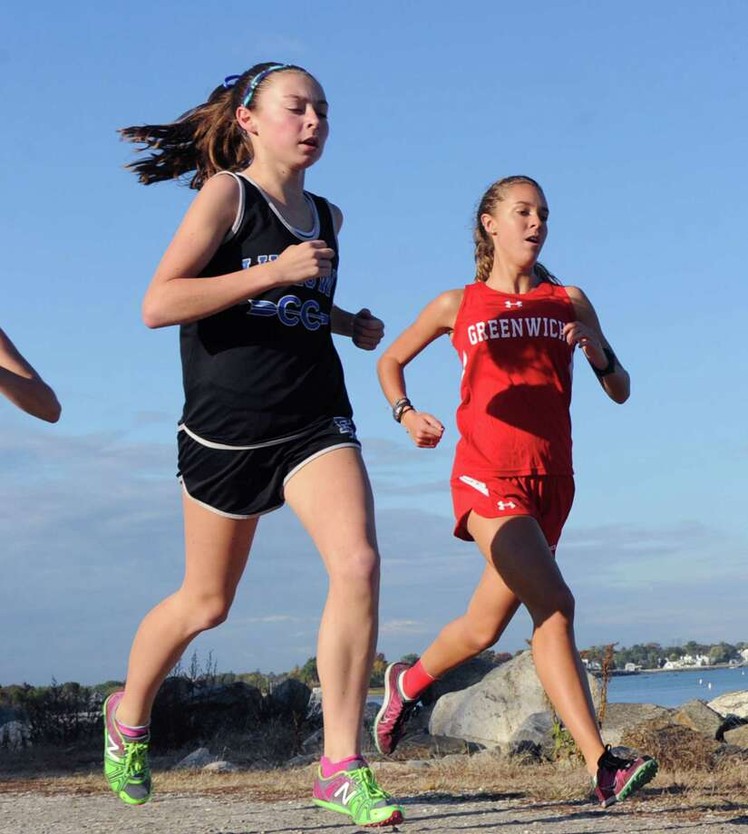 Girls high school cross country meet at Greenwich Point, Conn., Tuesday, Oct. 13, 2015. Photo: Bob Luckey Jr. / Hearst Connecticut Media / Greenwich Time
