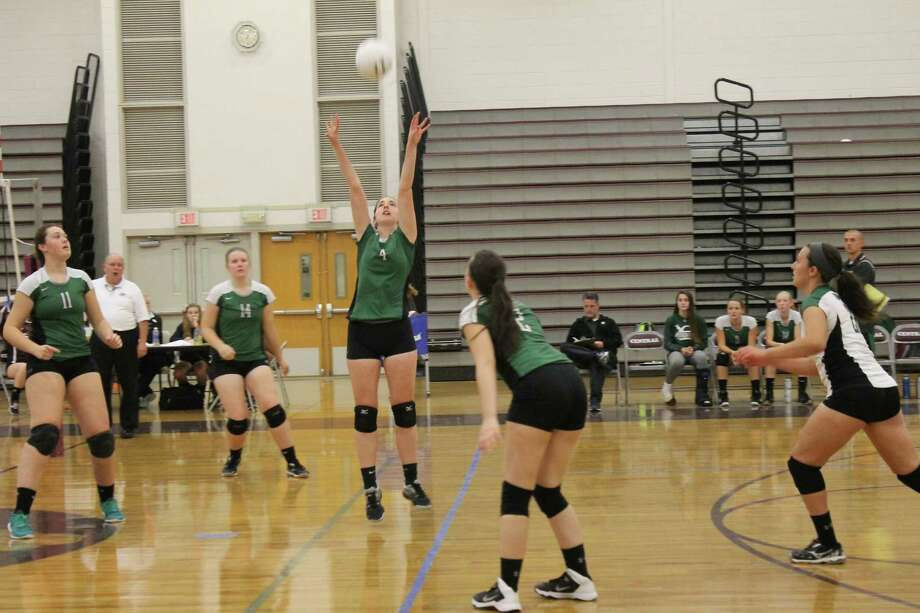 The New Milford girls volleyball team lost 3-0 to Bristol Central on Monday. Photo: John Nester / For Hearst Connecticut Media / The News-Times Freelance