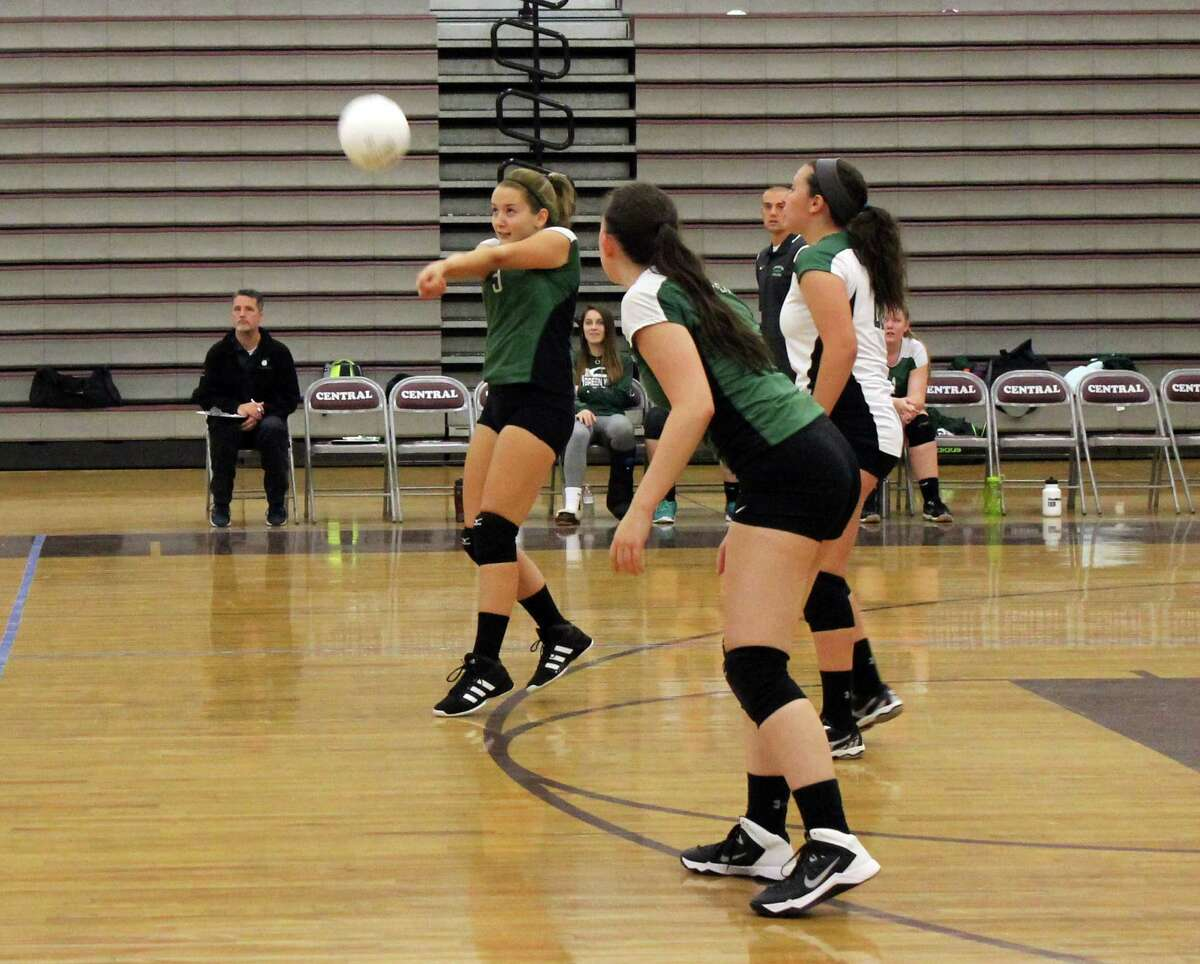 The New Milford girls volleyball team is one win away from clinching a state tournament berth.