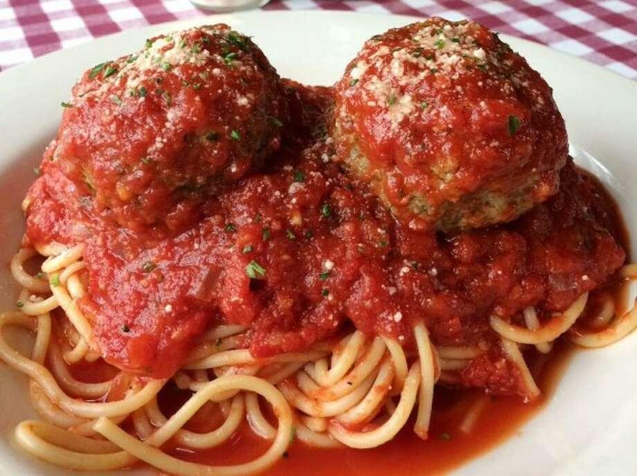 D'Amico's Meatballs and Spaghetti.