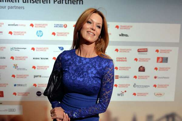 FRANKFURT AM MAIN, GERMANY - OCTOBER 13:  Actress Esther Schweins poses at the red carpet before the opening ceremony of the 2015 Frankfurt Book Fair (Frankfurter Buchmesse) on October 13, 2015 in Frankfurt am Main, Germany. The fair, which is among the world's largest book fairs, will be open to the public from October 13-18.