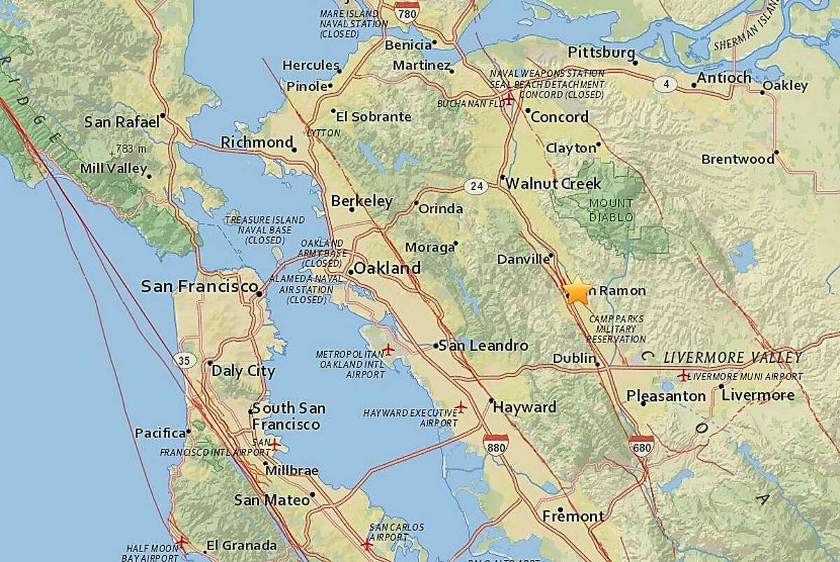 Series of small earthquakes shook the East Bay Tuesday night and into Wednesday morning, the biggest being a 2.9 magnitude shaker.