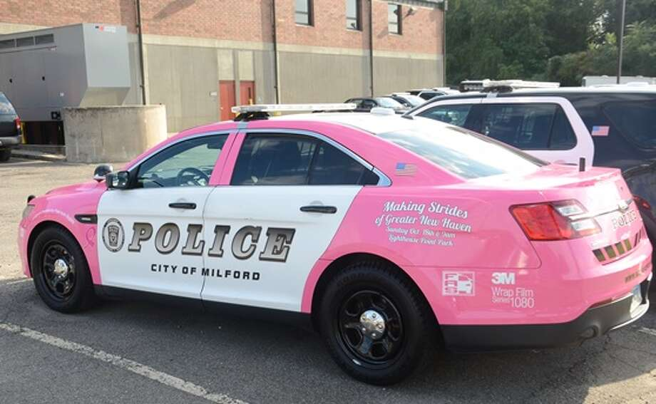 pink cop cars raise breast cancer awareness in milford fairfield