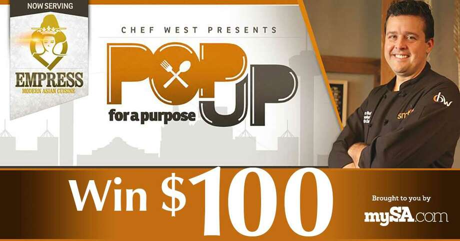 October 15, 21, 28 and November 4: Today's prize is a $100 gift certificate toChef Brian West's Empress PopUp for a purpose restaurantopen throughout October and November  2015. Find out more about the 60-day Asian-inspired eatery and the giveaway at mySA.com/popup.