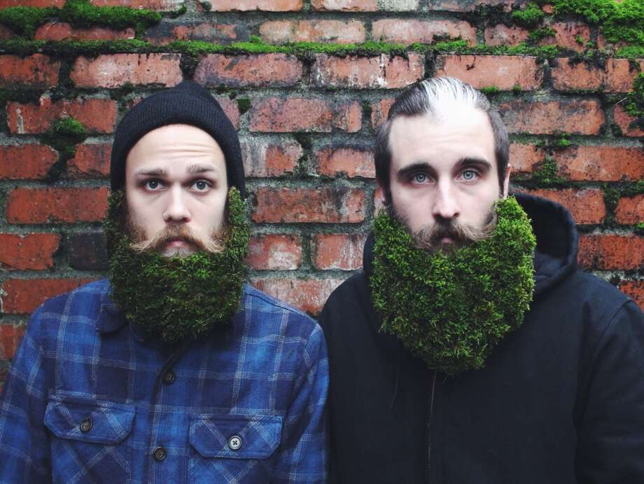 Brian Delaurenti and Johnathan Dahl think the world needs more humor and started an Instagram series called The Gay Beards featuring photographs of their beards filled with humorous, unusual and downright random items. Photo: The Gay Beards