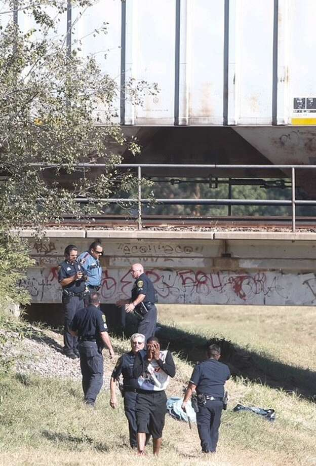 A Houston ISD student was killed Wednesday, Oct. 14, 2015 after being hit by a train in the area of 34th Street and T.c. Jester in north Houston. Photo: Cody Duty ,  Houston Chronicle