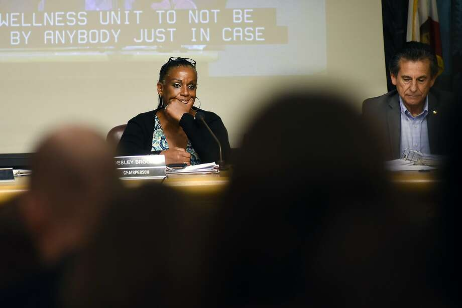 Council chairperson Desley Brooks listens to public comments during an Oakland City Council public city committee meeting at City Hall in Oakland on Friday, October 16, 2015. Photo: Michael Short, Special To The Chronicle