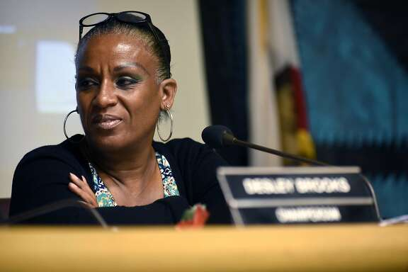 Councilwoman Desley Brooks looks on during an Oakland City Council public city committee meeting discussing African-American recruitment and retention in police force, at City Hall in Oakland, CA Friday, October 13, 2015.