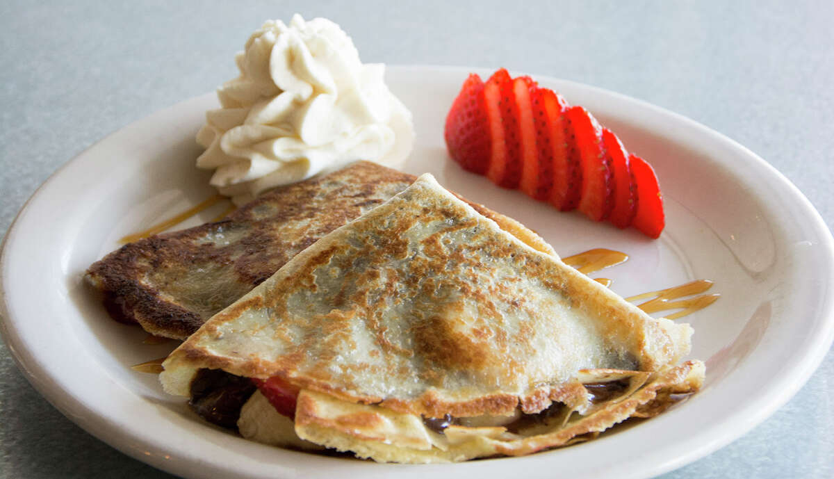 Dessert crepes from Flair Mexican Street Food Filled with Nutella, strawberries, bananas and a leche quemada-infused whipped cream.Address: 6462 N. New Braunfels Ave. Phone: 210-977-0193 Website: www.flairmexicanstreetfood.com