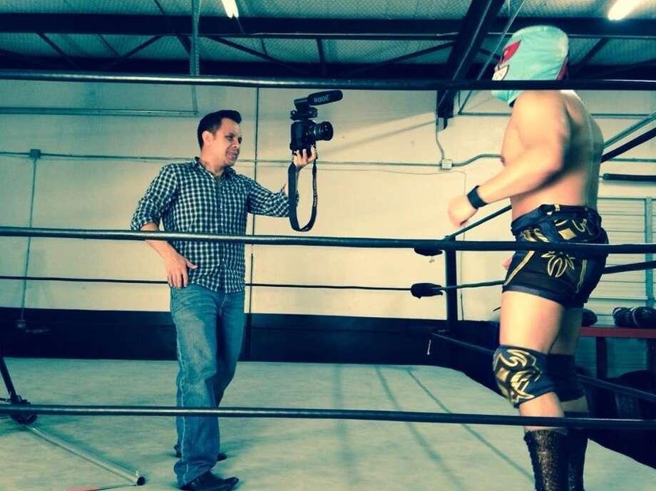 "Filmmaker Noi Mahoney captures one of San Antonio's favorite images -- the Lucha Libre wrestler -- for the documentary ""Austin vs. San Antonio."" Photo: Courtesy, Noi Mahoney"