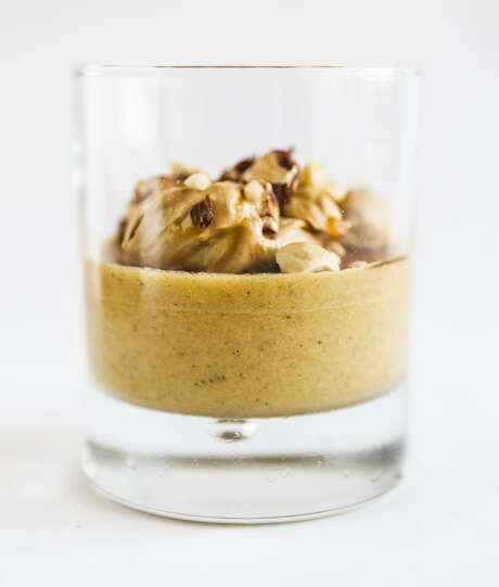 Pumpkin Parfait recipe by Mourad pastry chef Melissa Chou is seen on Wednesday, Oct. 14, 2015 in San Francisco, Calif.