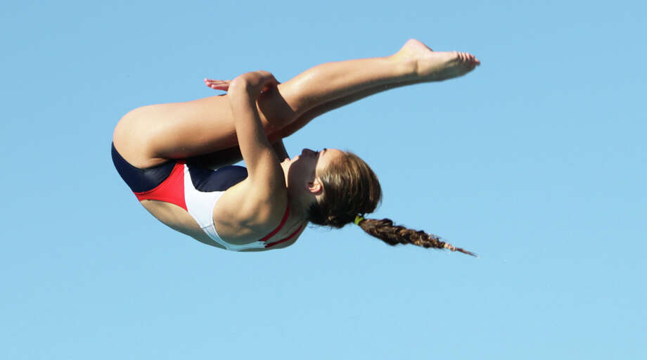 Carolina Sculti dives at the Junior Pan Am Championships last week in Matanzas, Cuba Sculti won the 1-meter springboard event. Photo: USA Diving / Contributed Photo