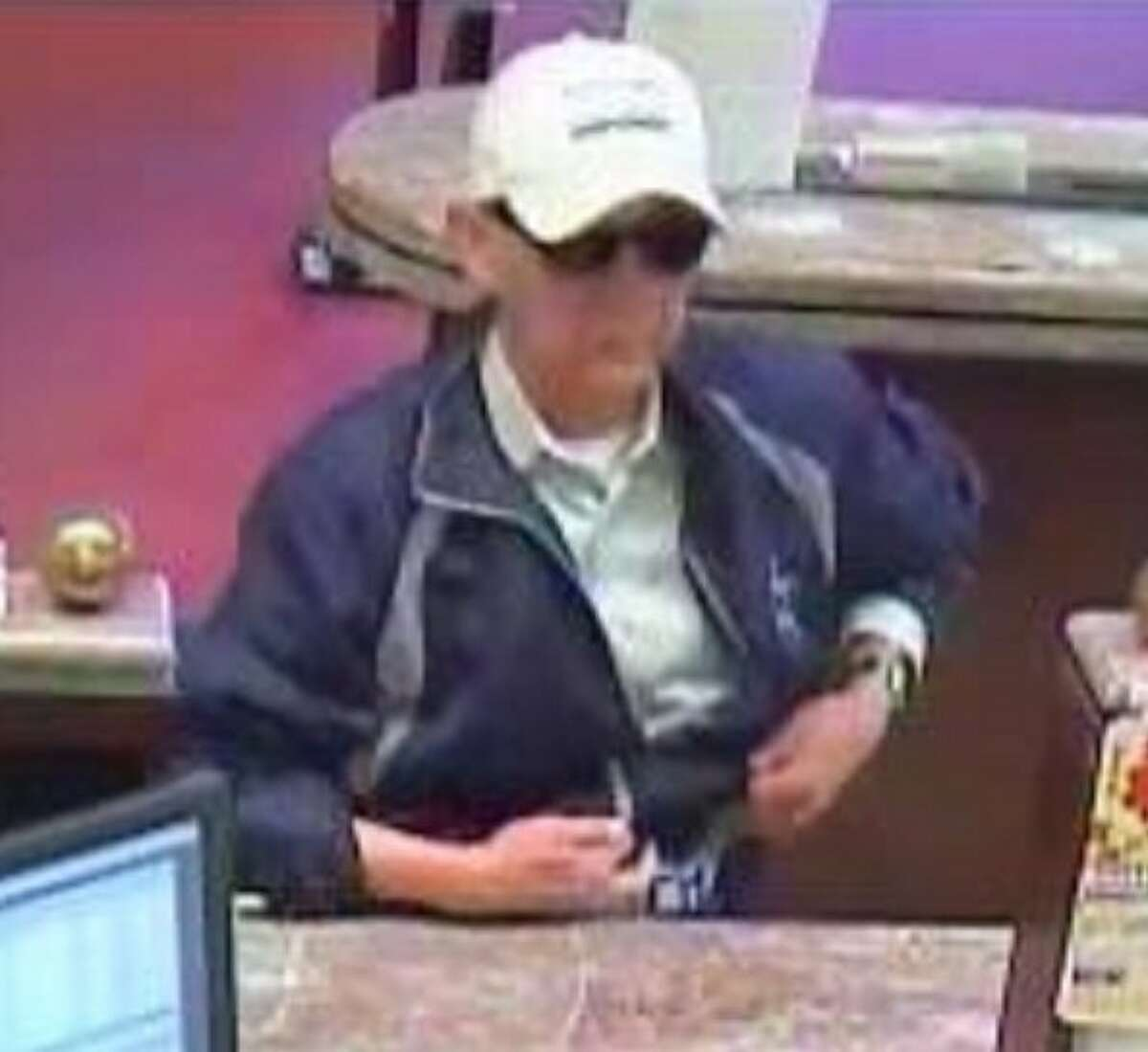 A photo of the suspected serial robber dubbed the