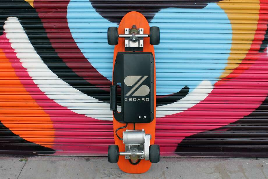 The founders of ZBoard have launched a San Francisco themed electric skateboard, but it's in the hands of city official to adopt a law Gov. Jerry Brown signed Sunday reversing a ban on the boards and allowing them in bicycle lanes. Photo: Ben Forman, ZBoard