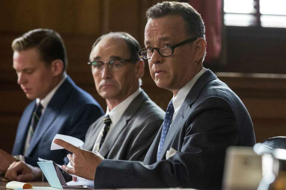 "In this image released by Disney, Tom Hanks, from right, Mark Rylance and Billy Magnusson appear in a scene from ""Bridge of Spies."" (Jaap Buitendijk/DreamWorks Pictures/Fox 2000 PIctures via AP) Photo: Jaap Buitendijk, HONS / Associated Press / Disney"