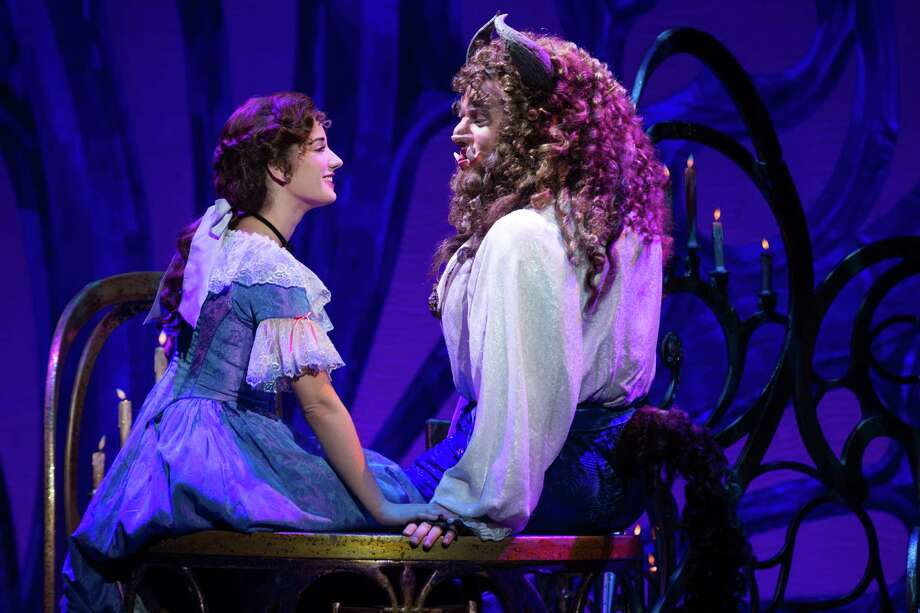 """Brooke Quintana as Belle and Sam Hartley as the Beast in Disney's """"Beauty and the Beast."""" Photo: Courtesy Matthew Murphy"""