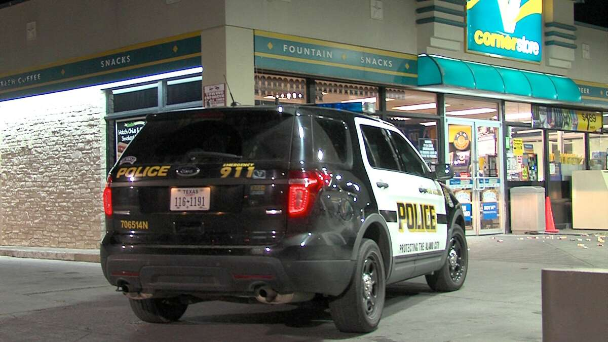 Police say three men tried to steal cigarettes and other items from a closed Valero Corner Store Thursday morning on the North Side.