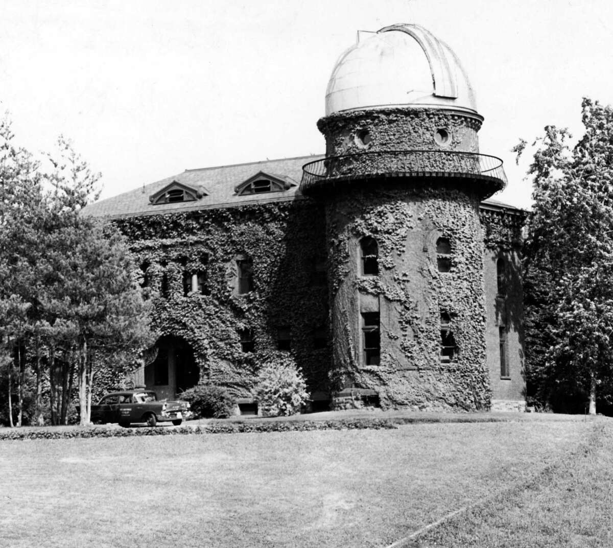 Dudley Observatory Aug. 9, 1958, located at 140 South Lake Ave., Albany, N.Y. The second observatory was dedicated in 1893 and remained in operation until 1965. (Times Union Archive)