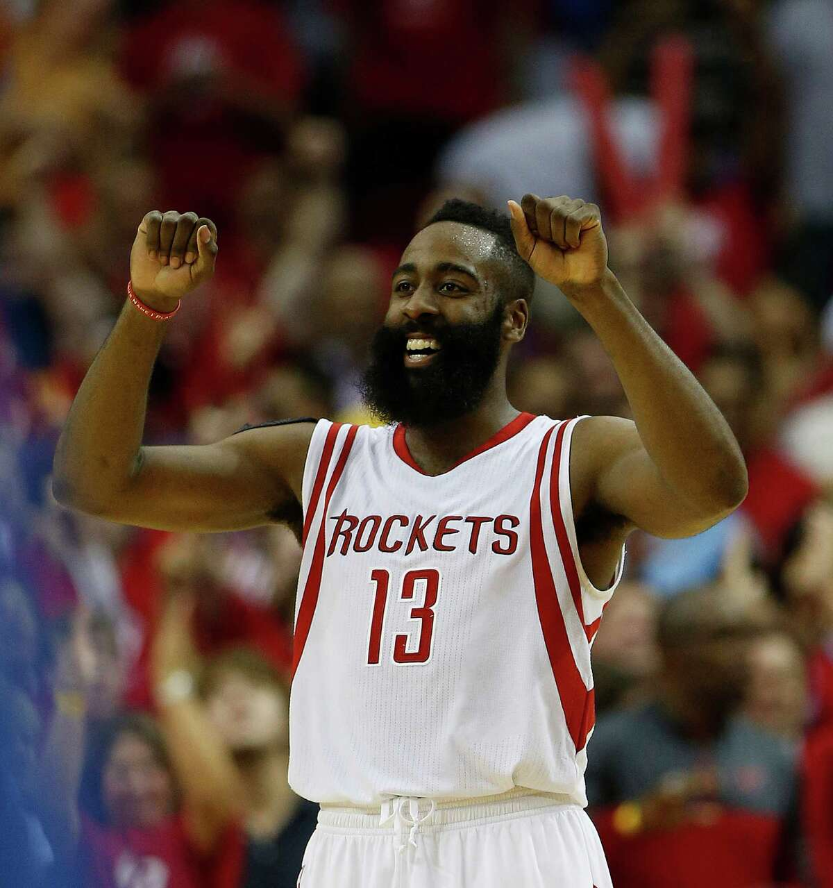 Harden says it's easy for him to keep a smile on his face.