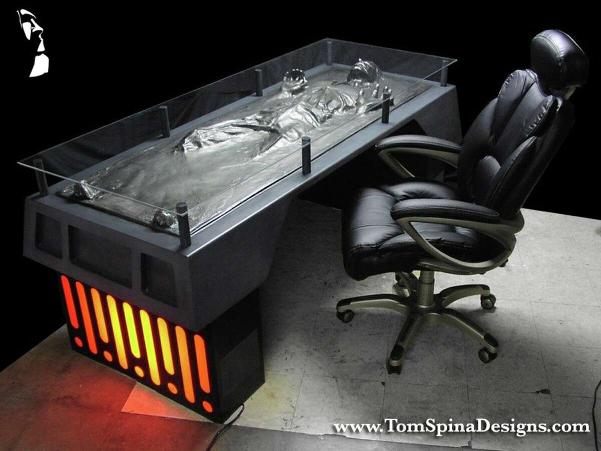 Han Carbonite Desk by Tom Spina Designs, inquire for pricing, tomspinadesigns.com