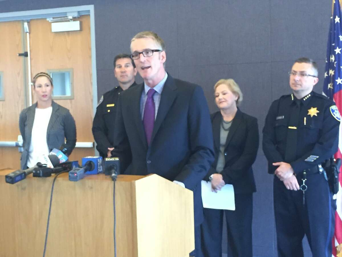 Special Agent David J. Johnson, head of the FBI's San Francisco office, announces Thursday that six children were rescued in the Bay Area as part of a nationwide sting on human trafficking. ~~
