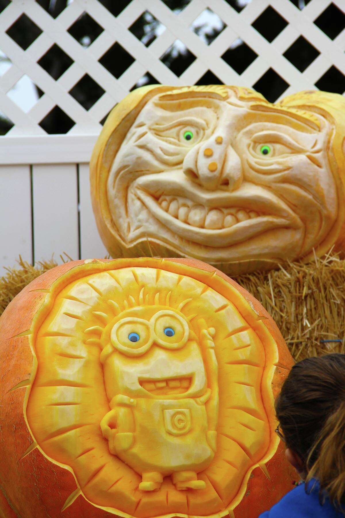 Farmer Mike carves pumpkins at the Half Moon Bay Pumpkin Festival.