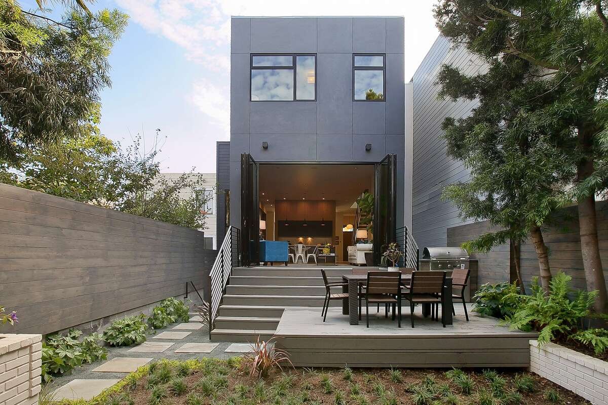 The tri-level Noe Valley home is the result of an extensive rebuilding project.