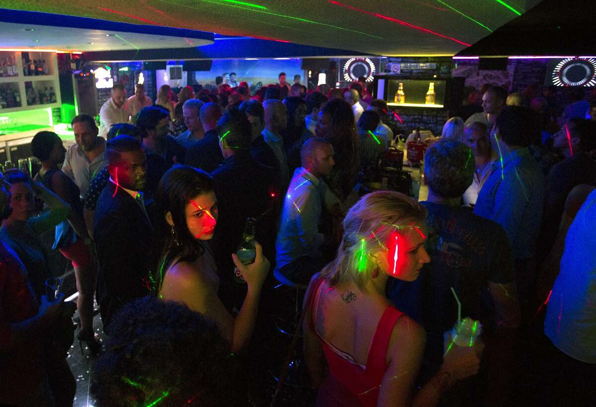 People pack the basement of one of Havana's hottest clubs, the