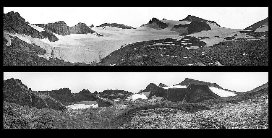On a geological expedition in 1883, Israel Russell took the top photo of the Lyell Glacier, when its total volume was measured at 1.2 million square meters. The photo below was taken in 2015 by Keenan Takahashi from the same spot. In that span, the glacier had receded from 1.2 million square meters to 270,426 square meters, losing 90 percent of its volume and 80 percent of surface area.