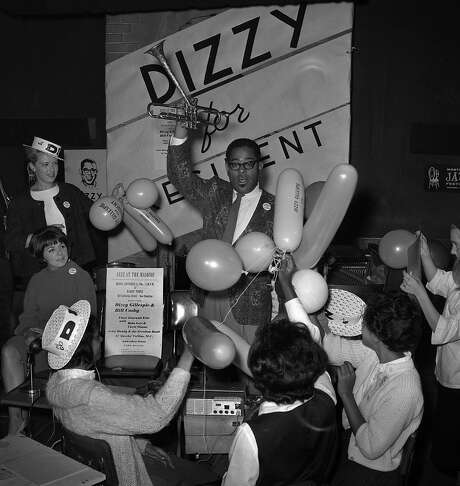 The people of San Francisco show their support for trumpeter Dizzy Gillespie in the election year of 1964. Photo: Gordon Peters, The Chronicle