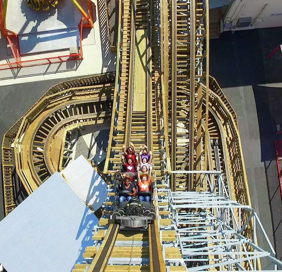 The new Switchback roller coaster at ZDT's Amusement Park is one of the first of its kind: A wooden forward and backward roller coaster. Photo: Courtesy/ZDT's Amusement Park