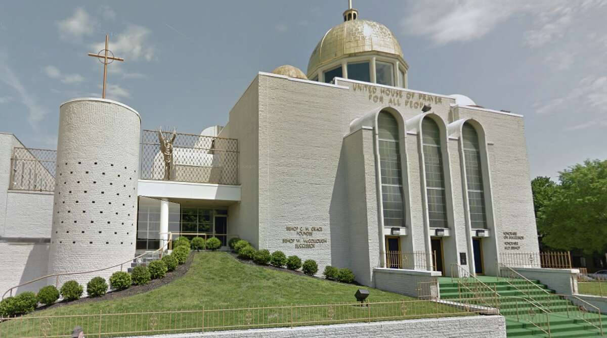 The United House of Prayer, also known as God's White House, at 601 M St NW in Washington, DC.
