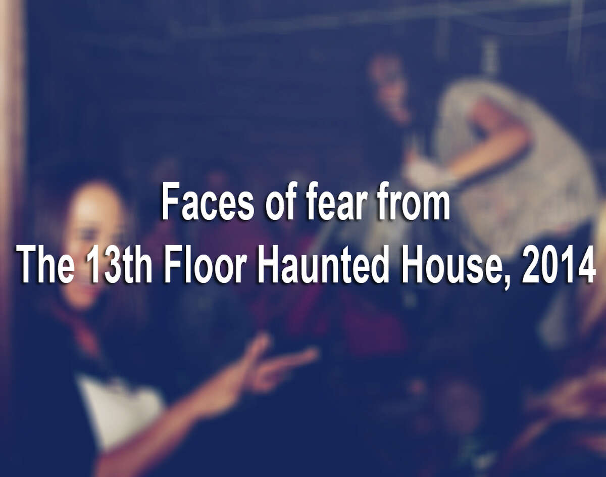 This is what it looks like to be scared as hell (or completely unimpressed) at The 13th Floor Haunted House in San Antonio.