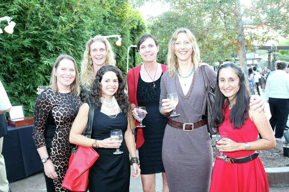 "The ""Pride"" Amy Dickman, Stephanie Dolrenry, Leela Hazzah (front/black dress), Colleen Begg, Alayne Cotterill, Shivani Bhalla Photo: Pin Lim, For The Chronicle / Copyright Forest Photography, 2015."