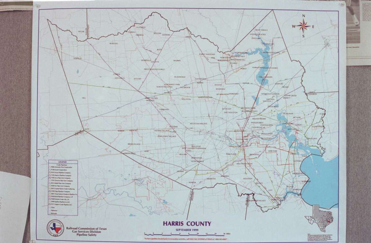 Map of Harris County